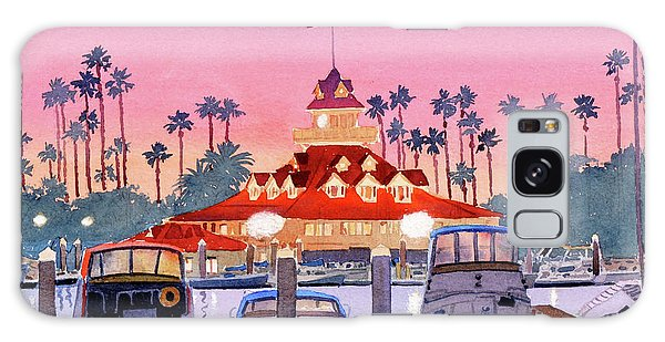 Coronado Boathouse After Sunset Galaxy Case