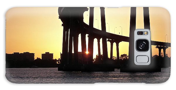Coronado Bridge Sunset Galaxy Case by Carol  Bradley