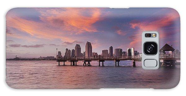 Coronado Ferry Landing Sunset Galaxy Case
