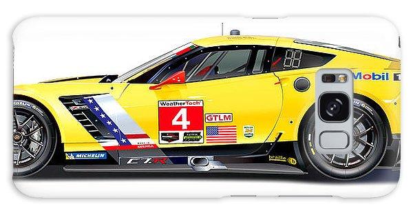 Corvette C7.r Lm Illustration Galaxy Case