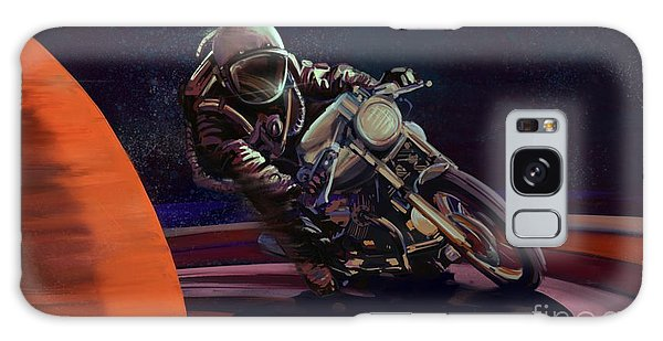 Motorcycle Galaxy S8 Case - Cosmic Cafe Racer by Sassan Filsoof