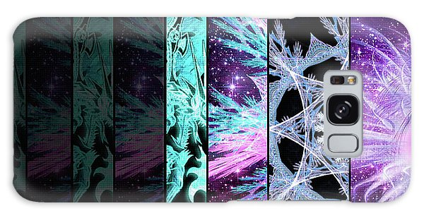 Galaxy Case featuring the mixed media Cosmic Collage Mosaic Left Side by Shawn Dall