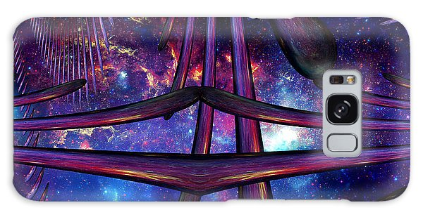 Galaxy Case featuring the photograph Cosmic Resonance No 7 by Robert G Kernodle