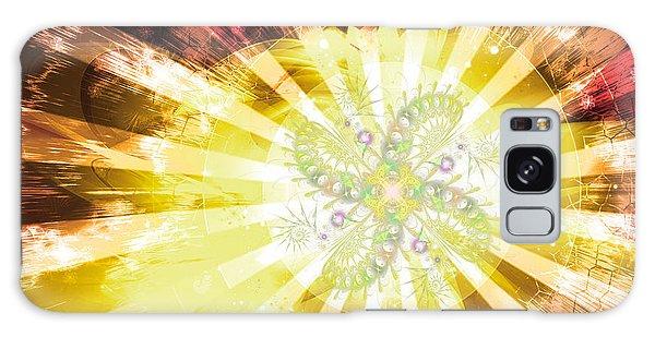 Galaxy Case featuring the digital art Cosmic Solar Flower Fern Flare 2 by Shawn Dall