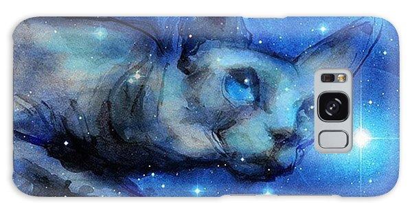 Galaxy Case - Cosmic Sphynx Painting By Svetlana by Svetlana Novikova