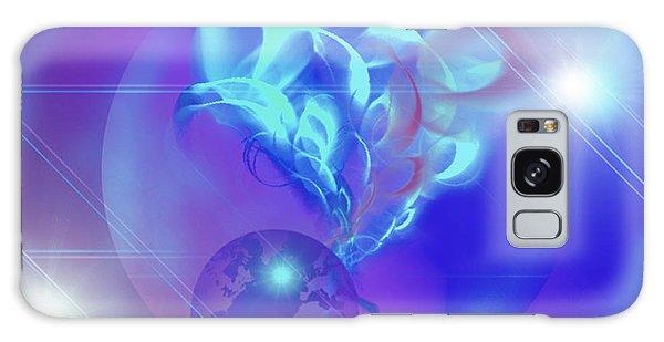 Cosmic Wave Galaxy Case by Ute Posegga-Rudel