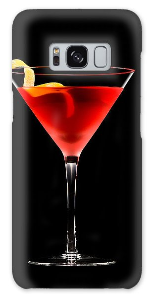 Cosmopolitan Cocktail In Front Of A Black Background  Galaxy Case