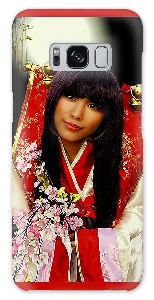 Cosplayer In Japanese Costume Galaxy Case