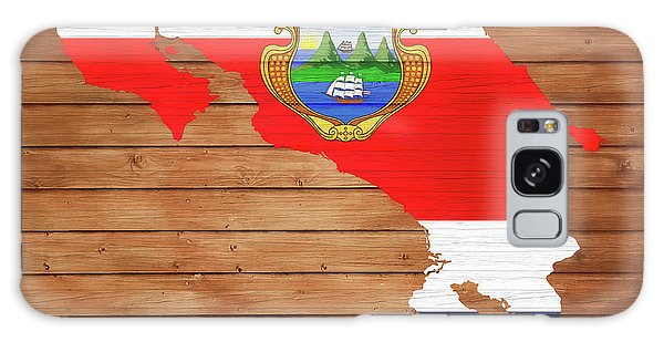 Traveler Galaxy Case - Costa Rica Rustic Map On Wood by Dan Sproul