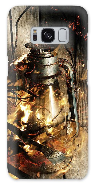 Cottage Galaxy Case - Cosy Open Fire. Cottage Artwork by Jorgo Photography - Wall Art Gallery