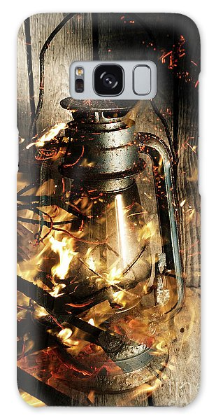 Shed Galaxy Case - Cosy Open Fire. Cottage Artwork by Jorgo Photography - Wall Art Gallery