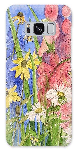 Cottage Garden Daisies And Blue Skies Galaxy Case