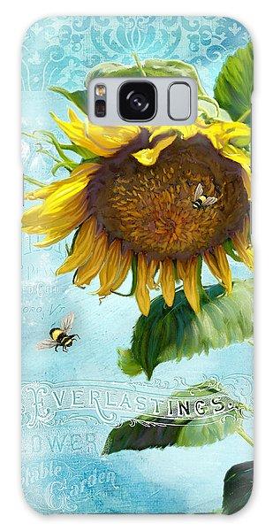 Cottage Garden Sunflower - Everlastings Seeds N Flowers Galaxy Case by Audrey Jeanne Roberts