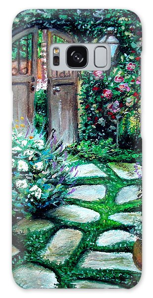 Cottage Gates Galaxy Case