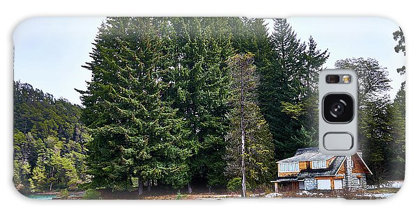 Little Cottage And Pines In The Argentine Patagonia Galaxy Case