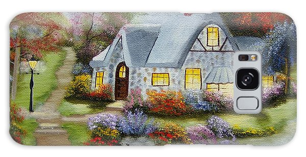 Cottage In Fall Galaxy Case