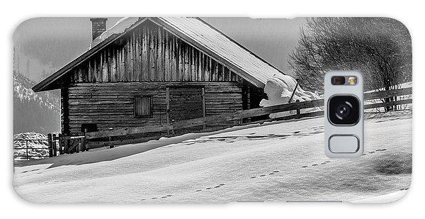Cottage In Winter Galaxy Case