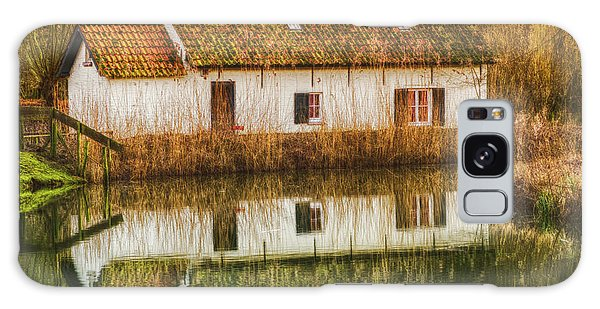 Cottage Reflection Galaxy Case by Wim Lanclus