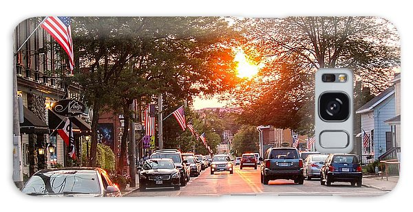 Cottage Street Summer Sunset Galaxy Case