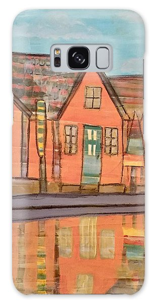 Cottages By The Beach Galaxy Case