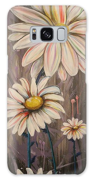 Cotton Candy Daisies Galaxy Case