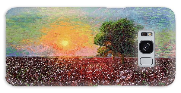 Florida Galaxy Case - Cotton Field Sunset by Jane Small