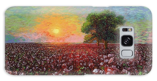 Cotton Field Sunset Galaxy Case