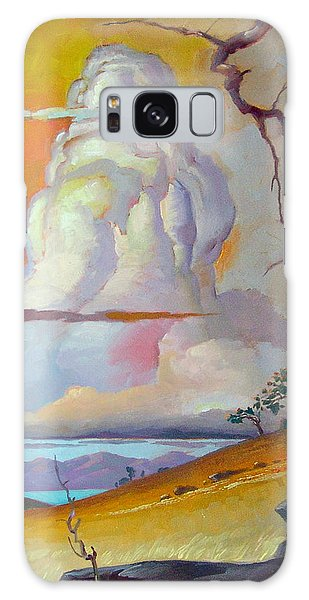 Cottonwood Clouds 3 Galaxy Case by John Norman Stewart
