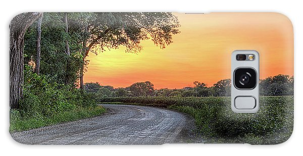Galaxy Case featuring the photograph Cottonwood Sunset by JC Findley