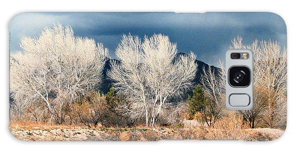Cottonwoods In Winter Galaxy Case by M Diane Bonaparte