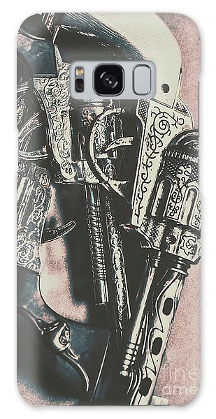 Metal Galaxy Case - Country And Western Pistols by Jorgo Photography - Wall Art Gallery