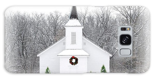Country Christmas Church Galaxy Case by Carol Sweetwood