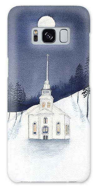 Country Church In Moonlight 2, Silent Night Galaxy Case