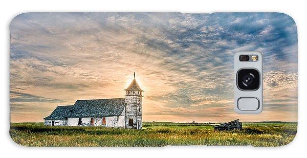 Country Church Sunrise Galaxy Case