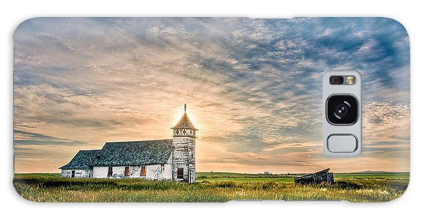 Country Church Sunrise Galaxy Case