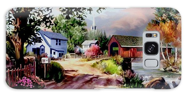 Country Covered Bridge Galaxy Case