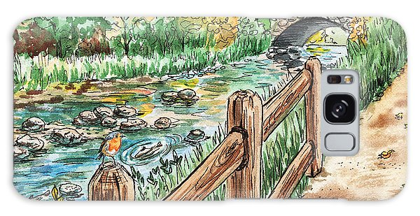 Country Living Galaxy Case - Country Creek  by Irina Sztukowski