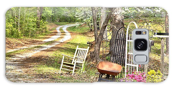 Country Driveway In Springtime Galaxy Case