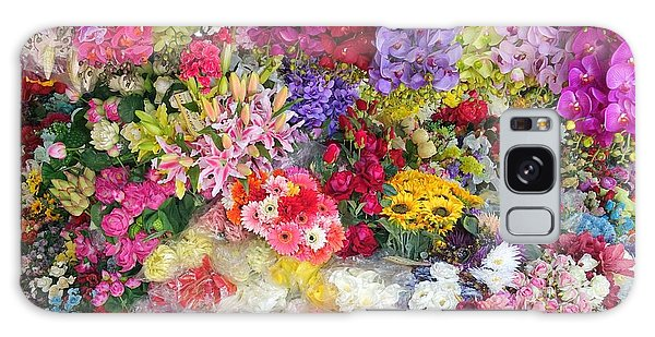 Country Flower Garden Colourful Design Galaxy Case