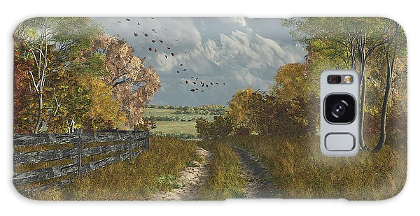 Country Lane In Fall Galaxy Case
