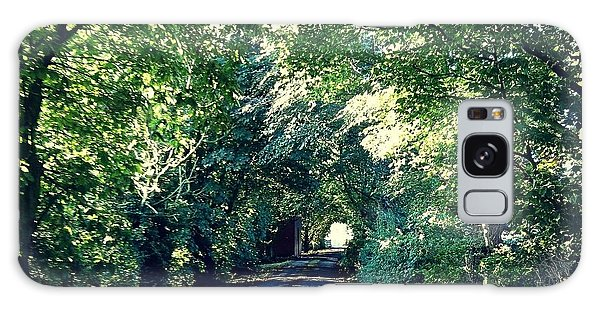 Country Lane, Tree Tunnel Galaxy Case