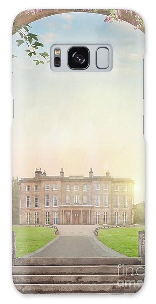 Country Mansion At Sunset Galaxy Case