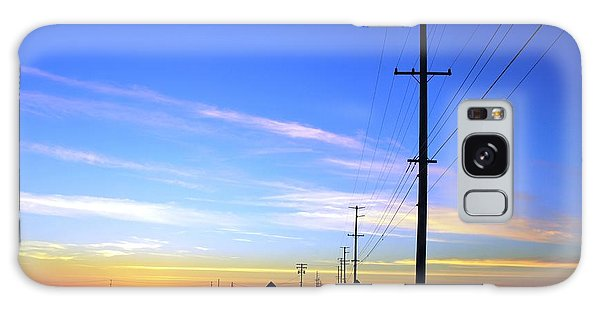 Galaxy Case featuring the photograph Country Open Road Sunset - Blue Sky by Matt Harang