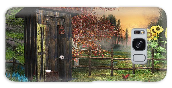 Country Outhouse Galaxy Case