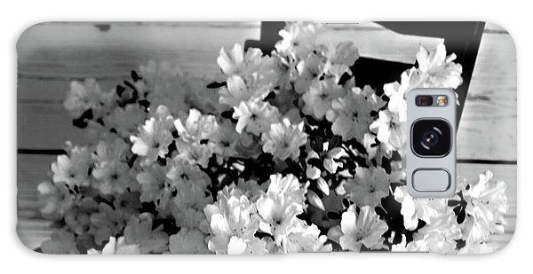 Country Porch In B And W Galaxy Case by Sherry Hallemeier