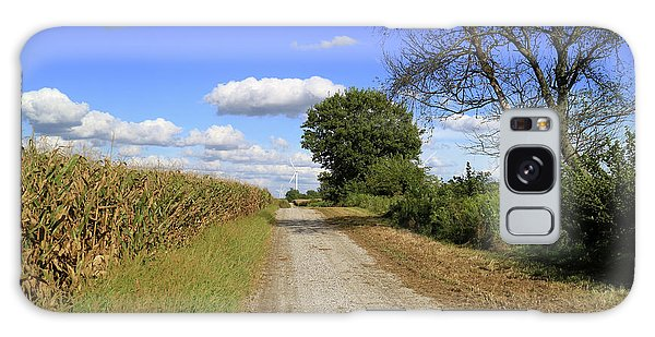Country Road In Benton County, Indiana Galaxy Case by Scott Kingery