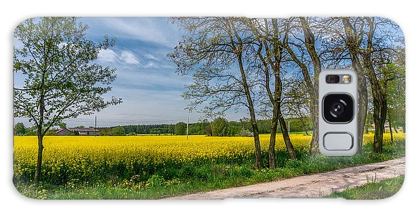 Country Road In The Rapeseed Field Galaxy Case