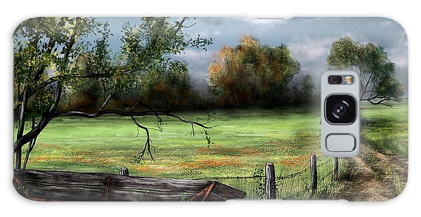 Country Road Galaxy Case by Ron Grafe