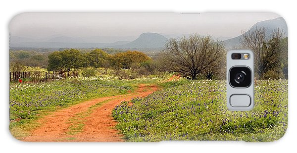 Country Road With Wild Flowers Galaxy Case