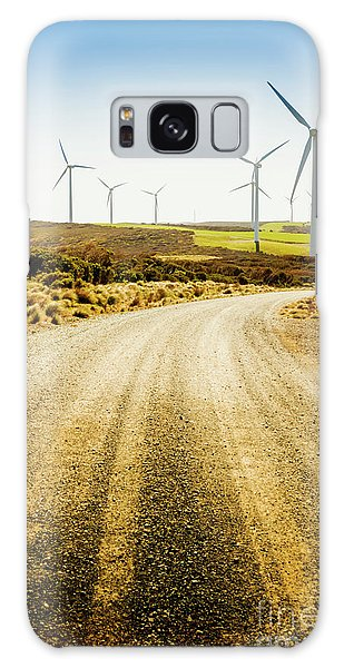 Wind Power Galaxy Case - Country Roads And Scenic Windfarms by Jorgo Photography - Wall Art Gallery